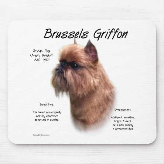 Brussels Griffon (rough) History Design Mouse Pad