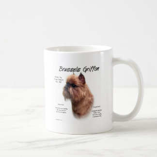 Brussels Griffon (rough) History Design Classic White Coffee Mug