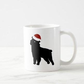 Brussels Griffon Santa Hat Coffee Mug