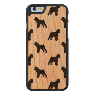 Brussels Griffon Silhouettes Pattern Carved Cherry iPhone 6 Case