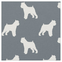 Brussels Griffon Silhouettes Pattern Fabric