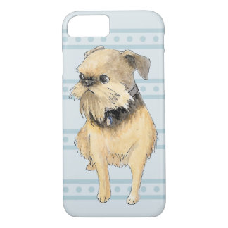 Brussels Griffon Sitting Watercolour iPhone 8/7 Case