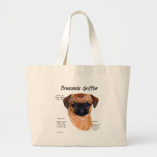 Brussels Griffon smooth History Design Canvas Bag