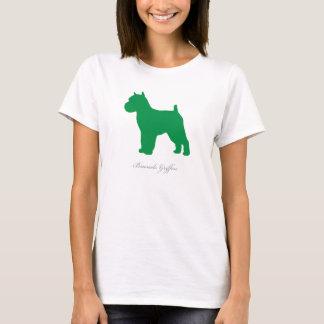 Brussels Griffon T-shirt (green docked version)