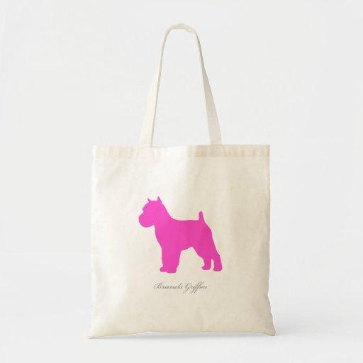 Brussels Griffon Tote Bag (pink docked version)