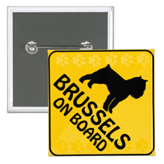 Brussels Griffon Xing Pinback Button