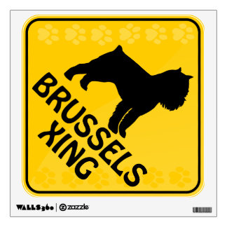 Brussels Griffon Xing Room Stickers