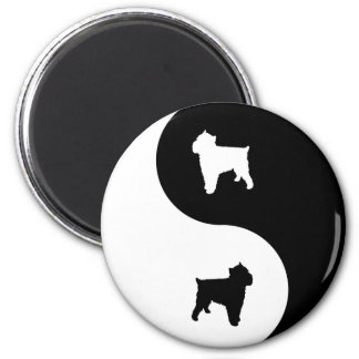 Brussels Griffon Yin Yang Refrigerator Magnets