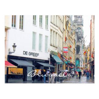 Brussels Market Square Latin Quarter Postcard