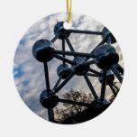 brussels photo adorno navideño redondo de cerámica