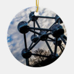 Brussels photo Double-Sided ceramic round christmas ornament