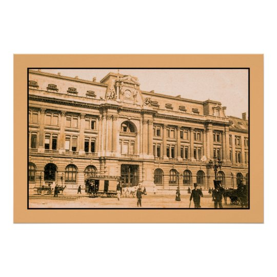 Brussels Post office, horsecar Poster