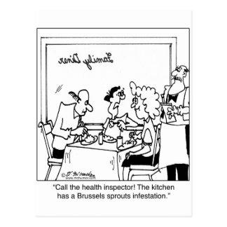 Brussels Sprout Infestation Postcard