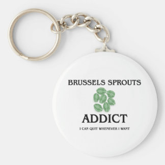 Brussels Sprouts Addict Basic Round Button Keychain