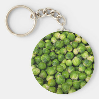 Brussels sprouts keychain