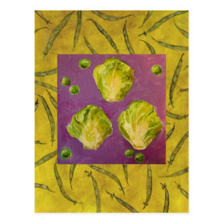 brussels sprouts/peas/beans card