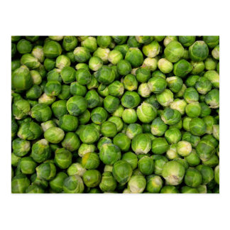 Brussels sprouts postcard