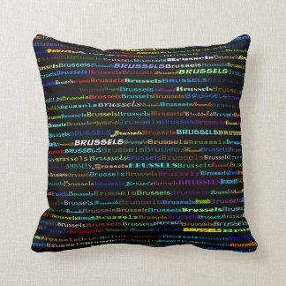 Brussels Text Design I Throw Pillow