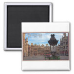 Brussels - The Grand Place 2 Inch Square Magnet