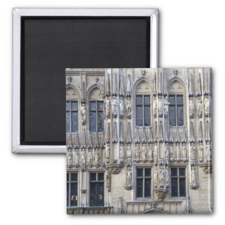 Brussels Town Hall 2 Inch Square Magnet