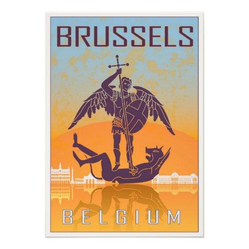 Brussels vintage poster arte fotografico