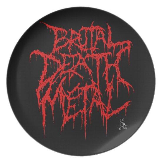 Brutal Death Metal Melamine Plate
