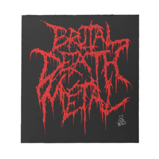 Brutal Death Metal Notepad