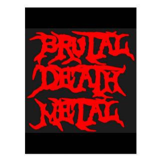 Brutal Death Metal Postcard