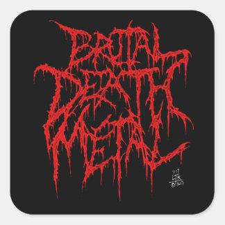 Brutal Death Metal Square Sticker