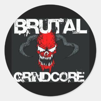 Brutal Grindcore Classic Round Sticker