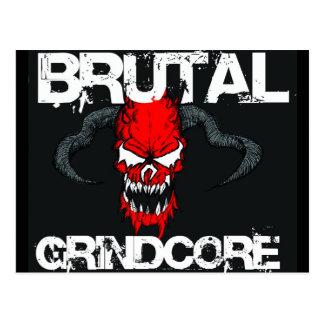 Brutal Grindcore Postcard