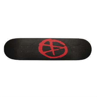 Brutal Red & Black Anarchy Skateboard Decks