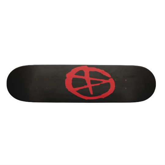 Brutal Red & Black Anarchy Skateboard Decks