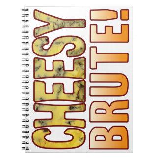 Brute Blue Cheesy Spiral Notebook