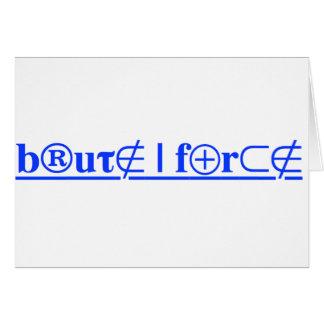 brute force card