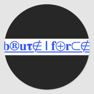 brute force classic round sticker