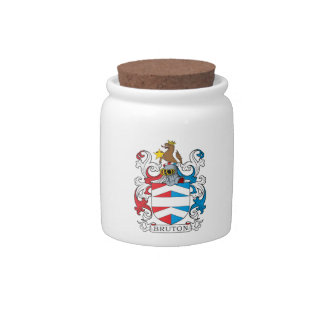 Bruton Family Crest Candy Jars