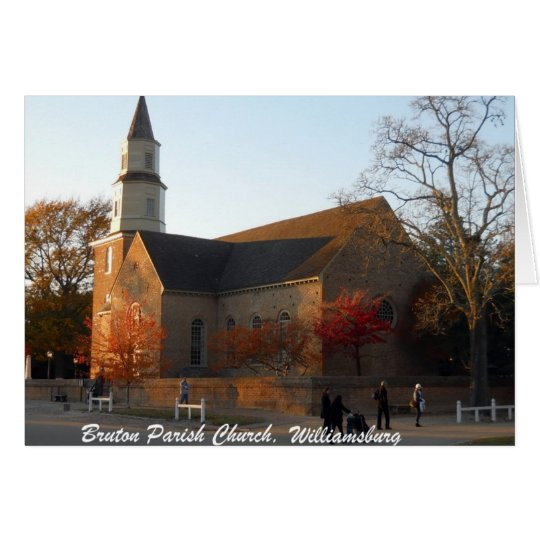 Bruton Parish Church, Williamsburg Card
