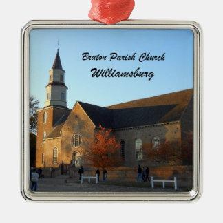 Bruton Parish Church, Williamsburg Metal Ornament