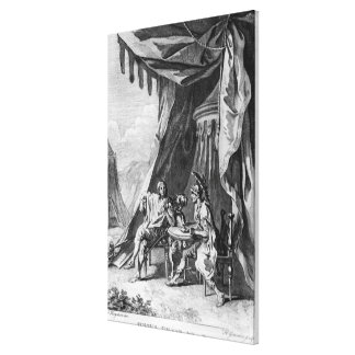 Brutus and Cassius in Brutus's Tent Canvas Print