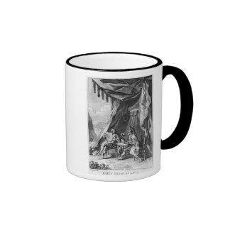 Brutus and Cassius in Brutus's Tent Ringer Coffee Mug