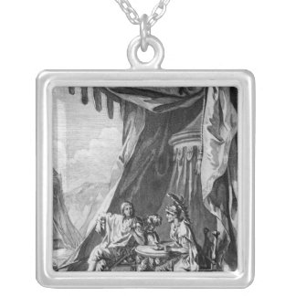 Brutus and Cassius in Brutus's Tent Silver Plated Necklace