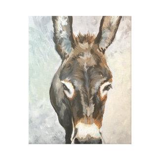Brutus Miniature Donkey Farmhouse Canvas Art