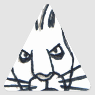 Brutus the Rabbit That Changed the World Triangle Sticker