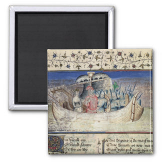 Brutus the Trojan Sets Sail for Britain, from 'The 2 Inch Square Magnet