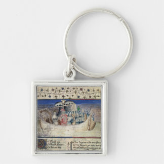 Brutus the Trojan Sets Sail for Britain, from 'The Silver-Colored Square Keychain