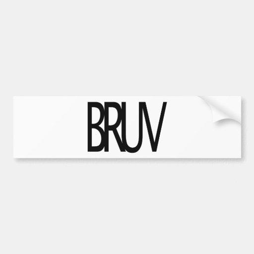 Bruv Car Bumper Sticker