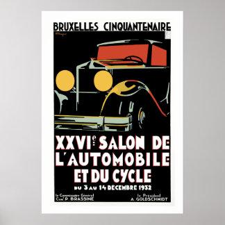 Bruxelles 25th Salon du l'Automobile Poster