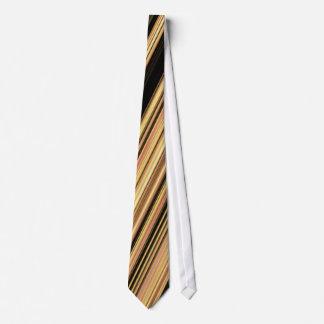 Brwon striped Necktie