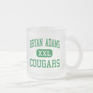 Bryan Adams - Cougars - High School - Dallas Texas Frosted Glass Coffee Mug